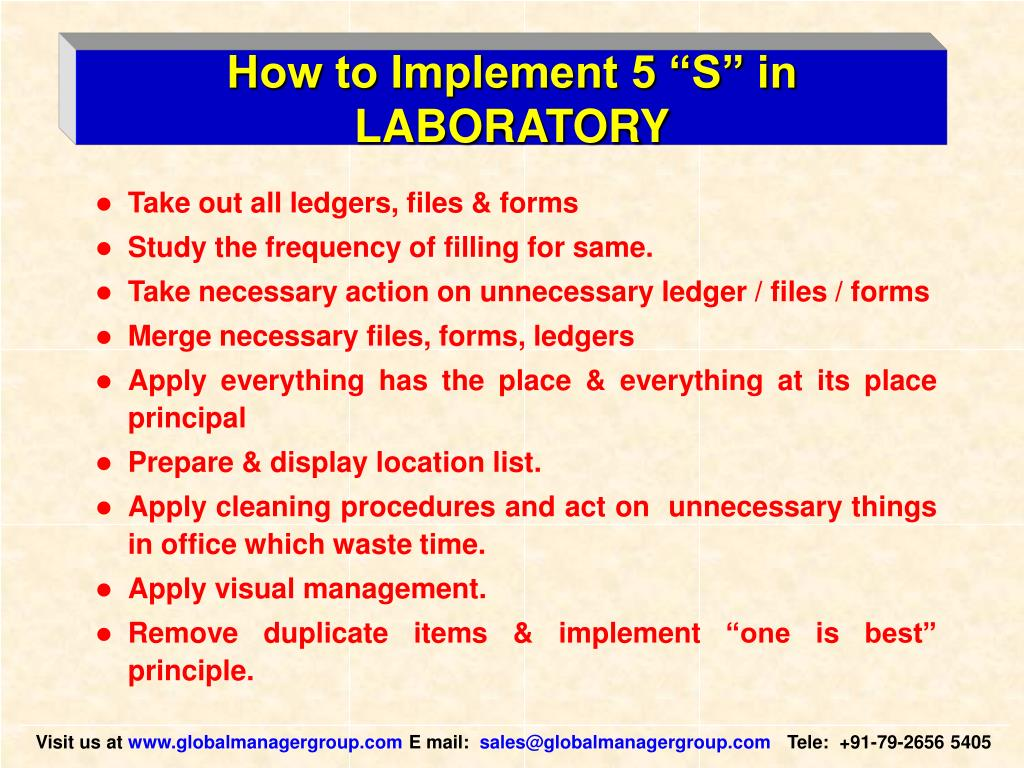 """How to Implement 5 """"S"""" in LABORATORY"""