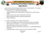 flattening information systems operations
