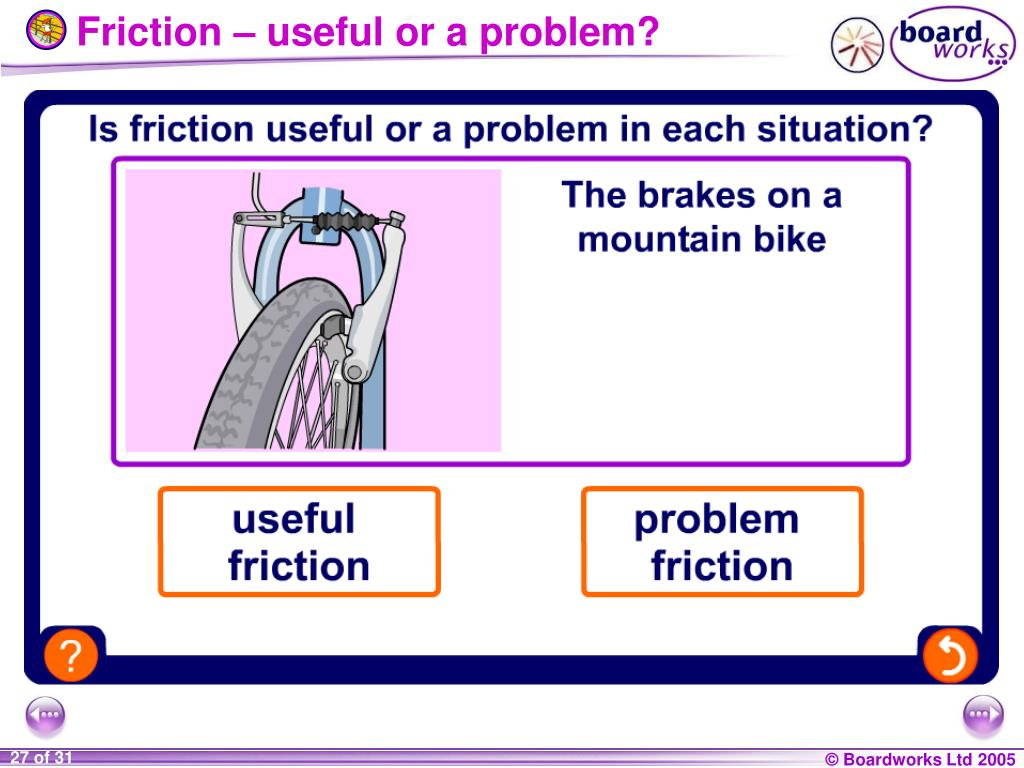Friction – useful or a problem?