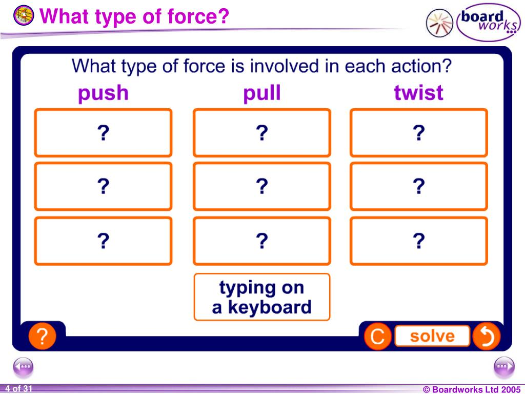 What type of force?