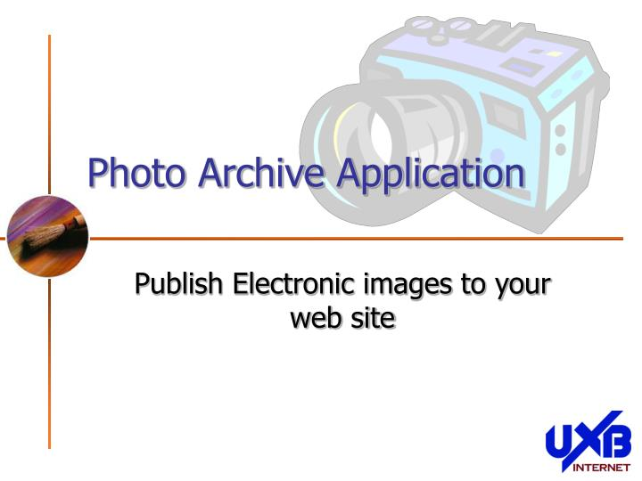 Photo archive application