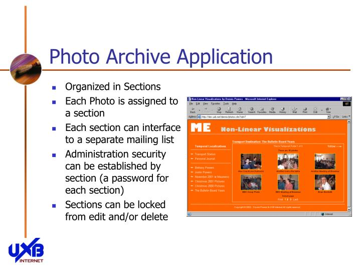 Photo archive application3