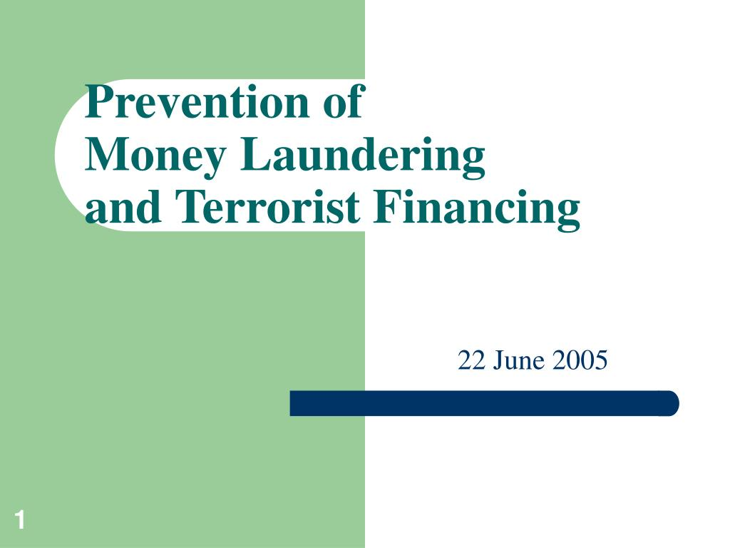 prevention of money laundering and terrorist financing l.