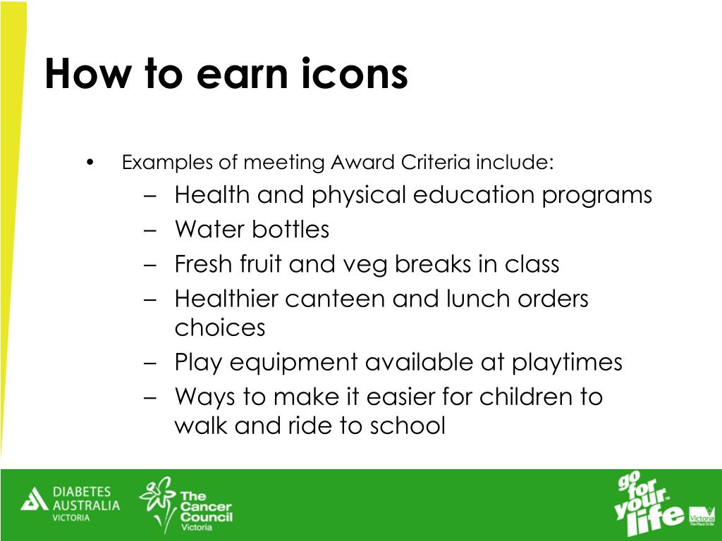 How to earn icons