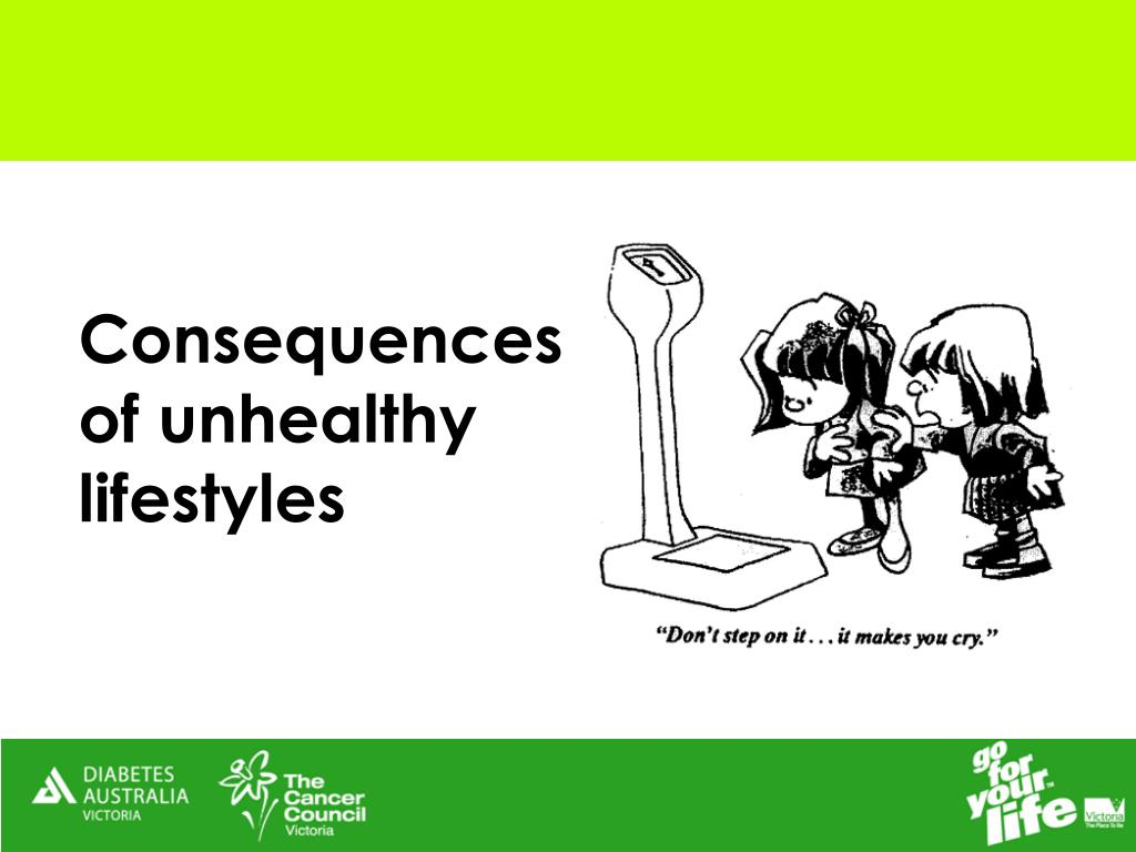 Consequences of unhealthy lifestyles
