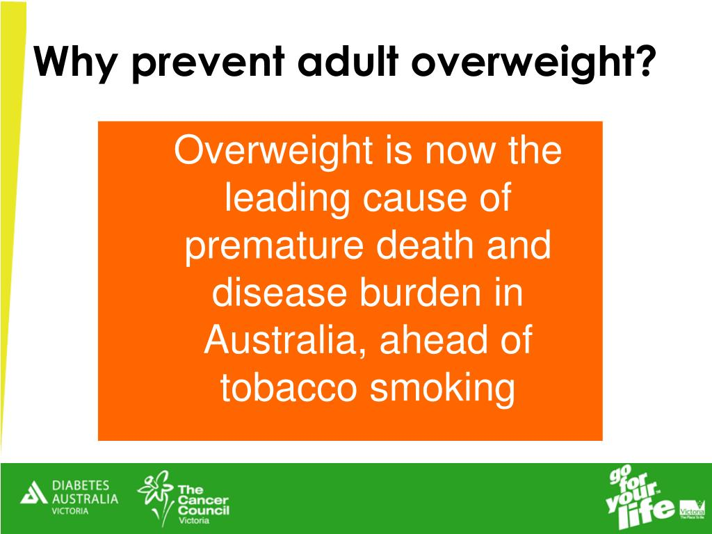 Why prevent adult overweight?