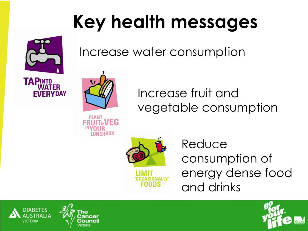 Key health messages