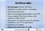 ed ifrs for smes