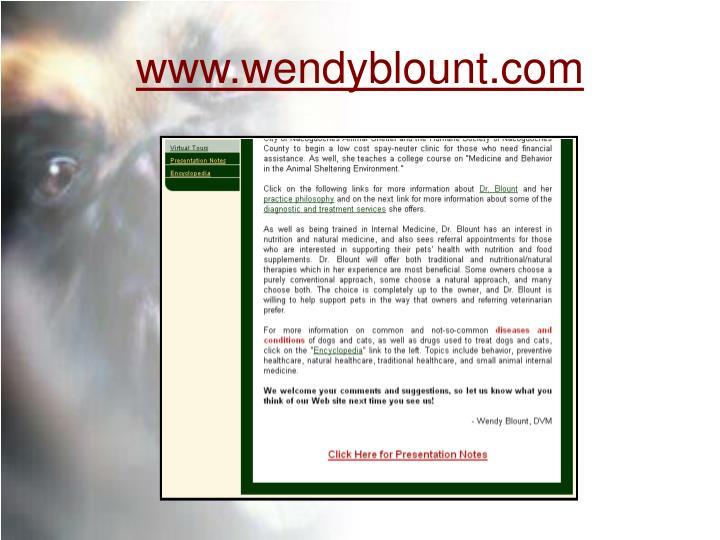 Www wendyblount com