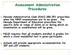 assessment administration procedures