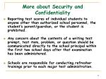 more about security and confidentiality29