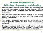 teacher responsibilities collecting organizing and checking