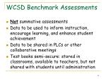 wcsd benchmark assessments