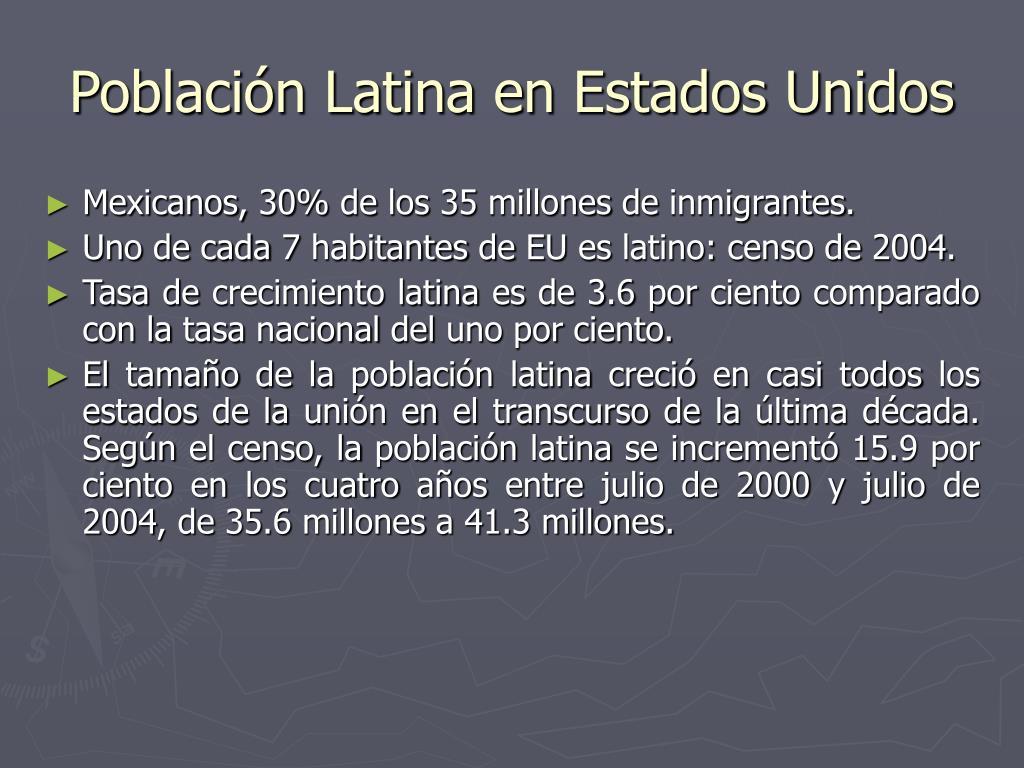 Población Latina en Estados Unidos