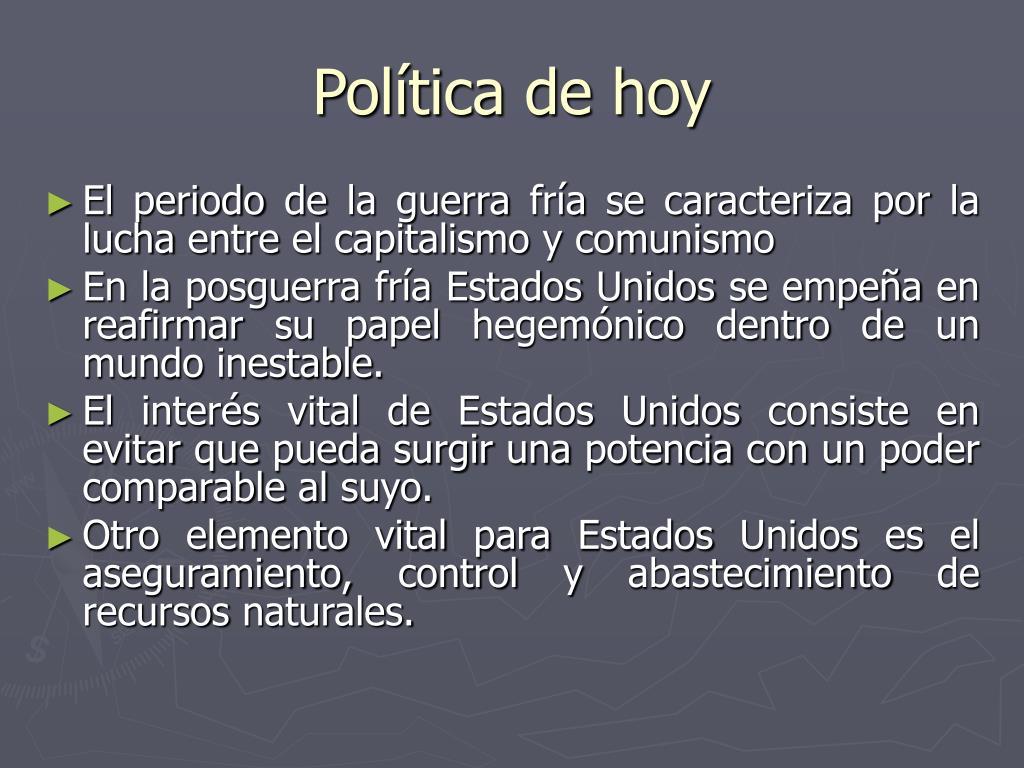 Política de hoy