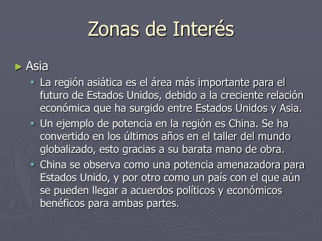 Zonas de Interés
