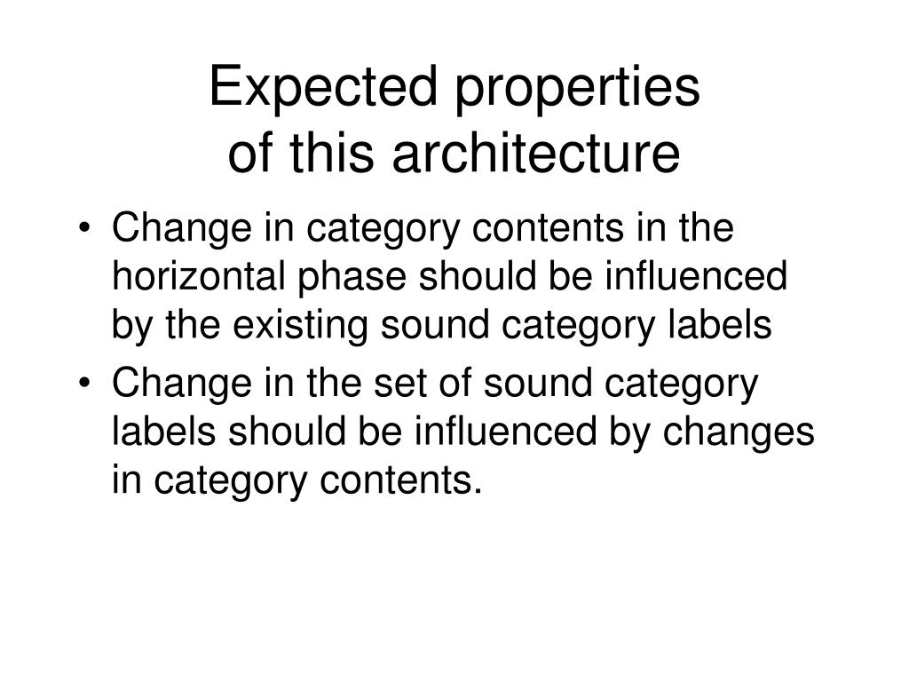 Expected properties
