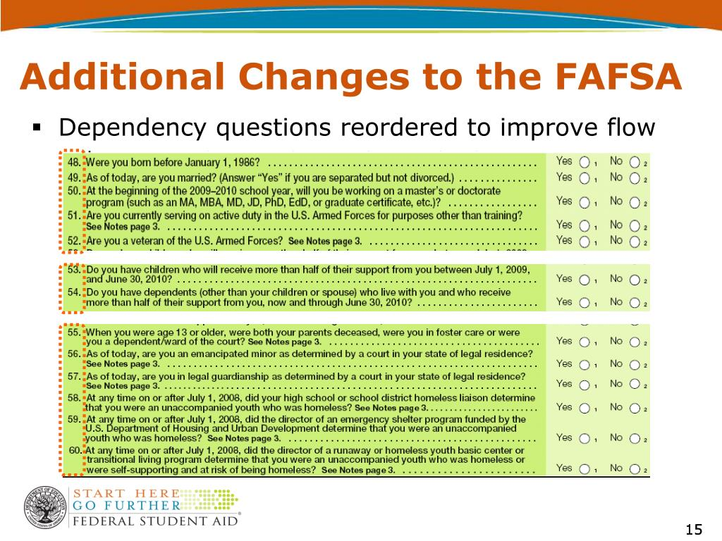Dependency questions reordered to improve flow