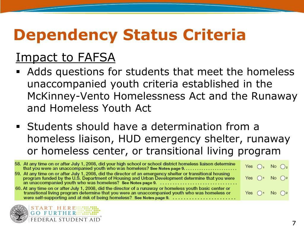 Impact to FAFSA