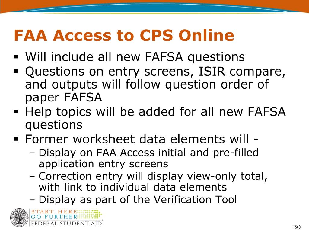 FAA Access to CPS Online