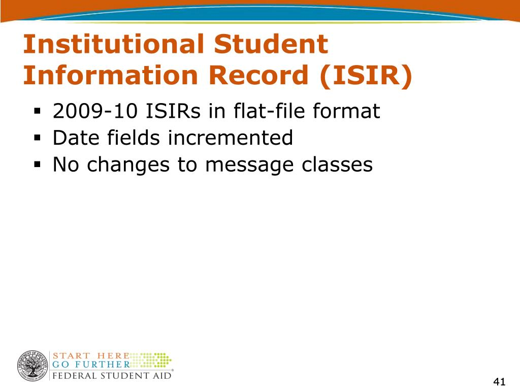 Institutional Student Information Record (ISIR)