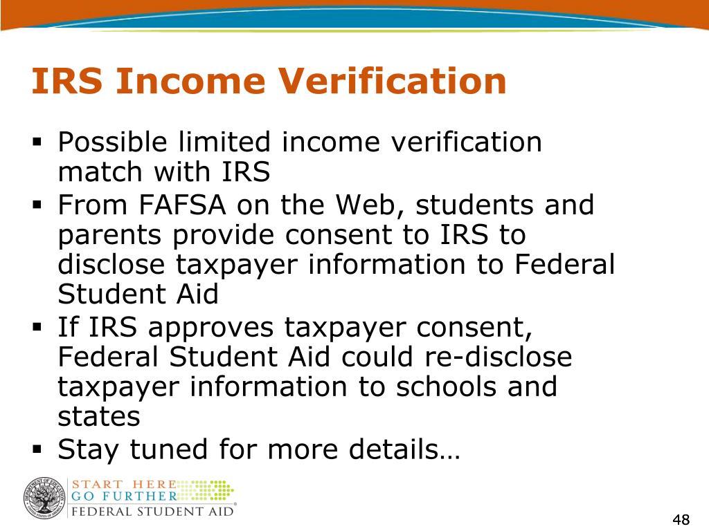 IRS Income Verification