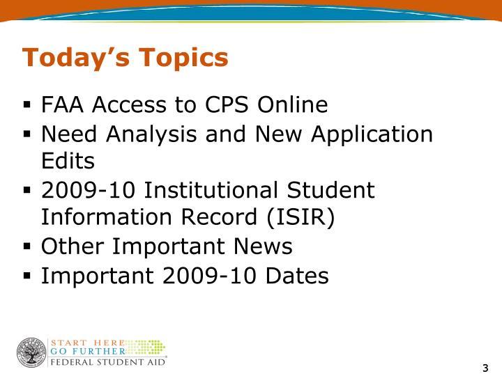 Today s topics3