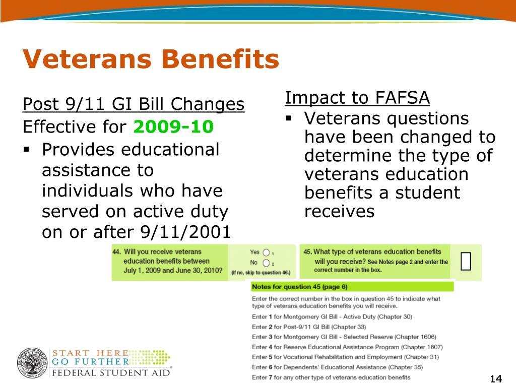 Post 9/11 GI Bill Changes