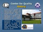 center for quality history