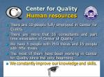 center for quality human resources
