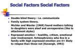 social factors social factors
