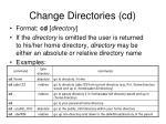 change directories cd