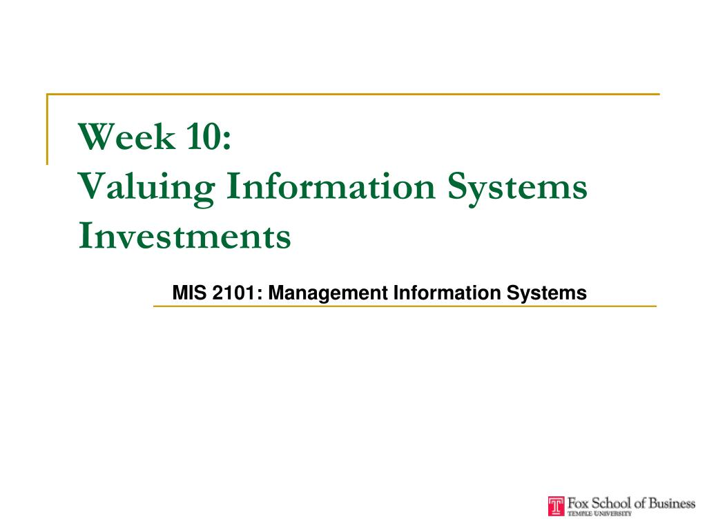 week 2 business information systems •define and describe business processes and their relationship to information systems types of business information systems (2/11) 110.
