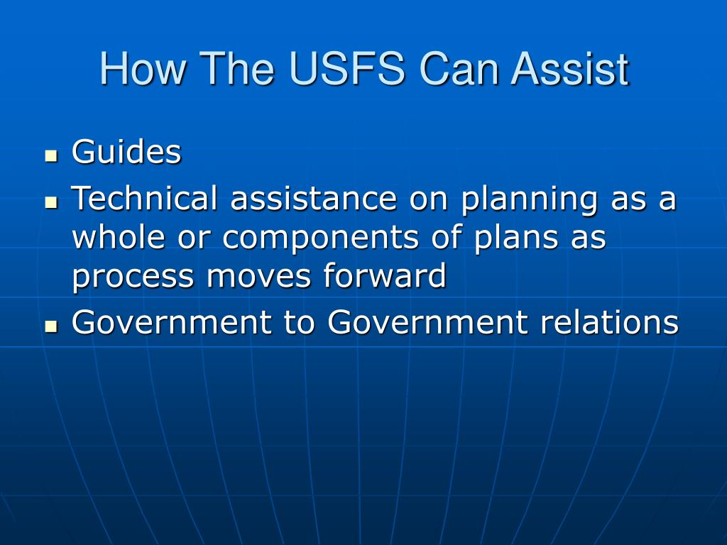 How The USFS Can Assist