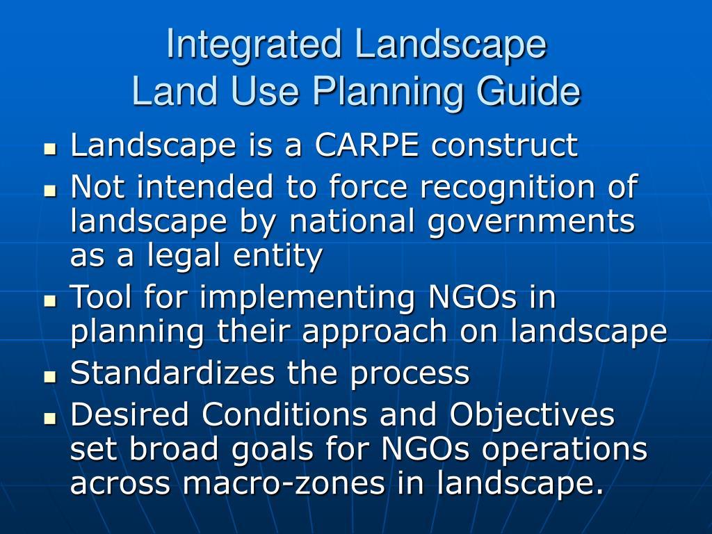 Integrated Landscape