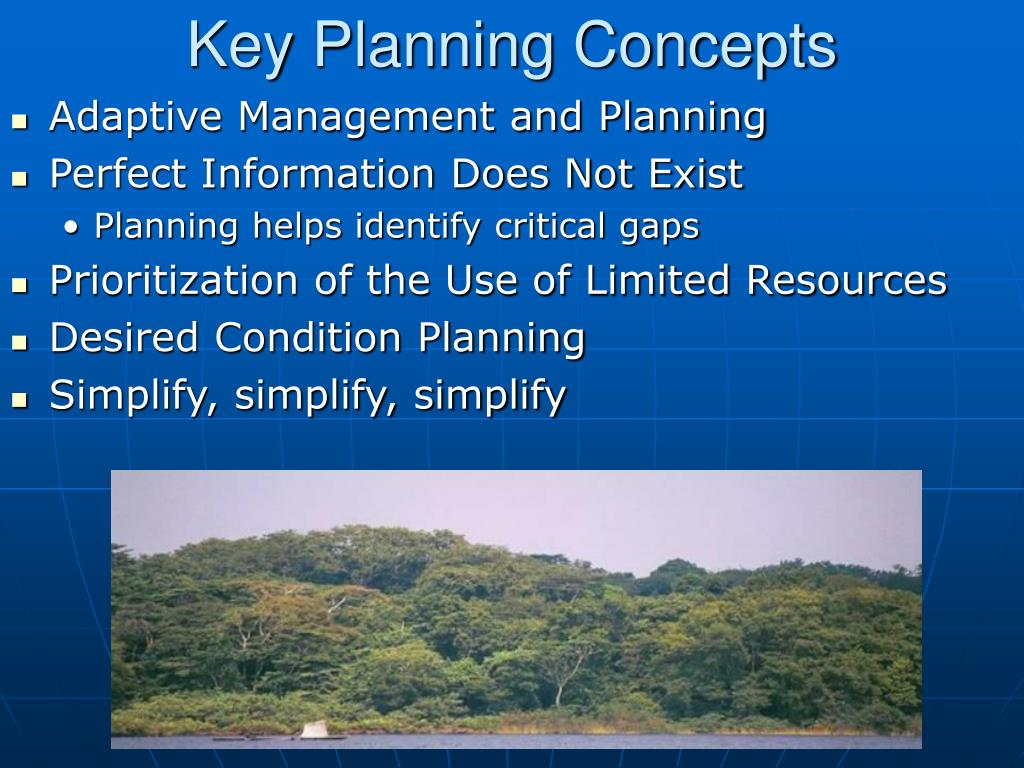 Key Planning Concepts