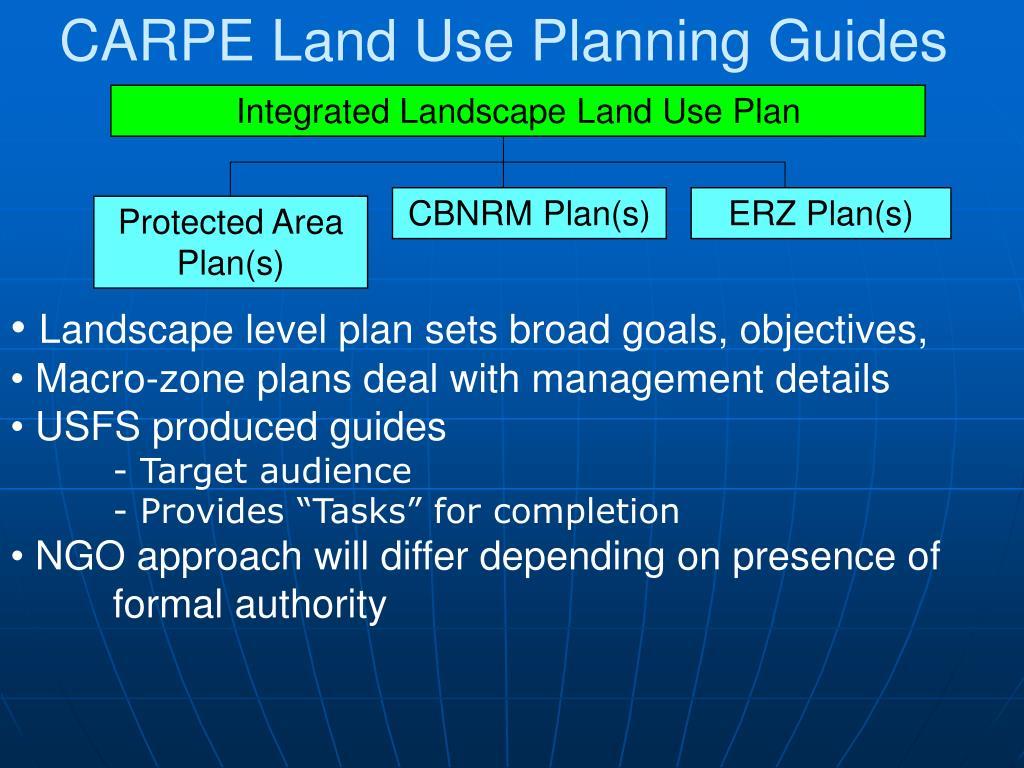 CARPE Land Use Planning Guides