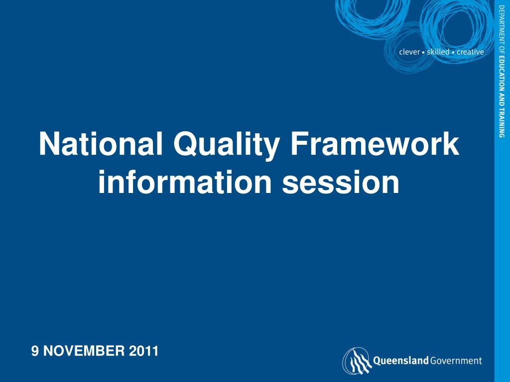 National Quality Framework information session