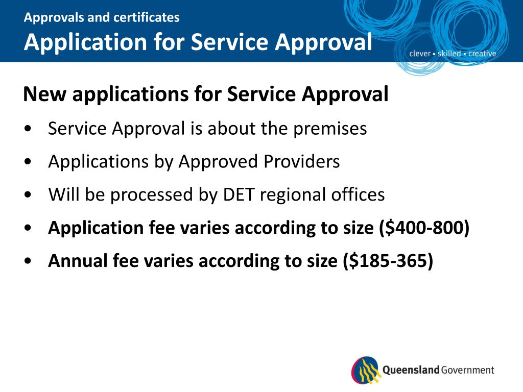 Approvals and certificates