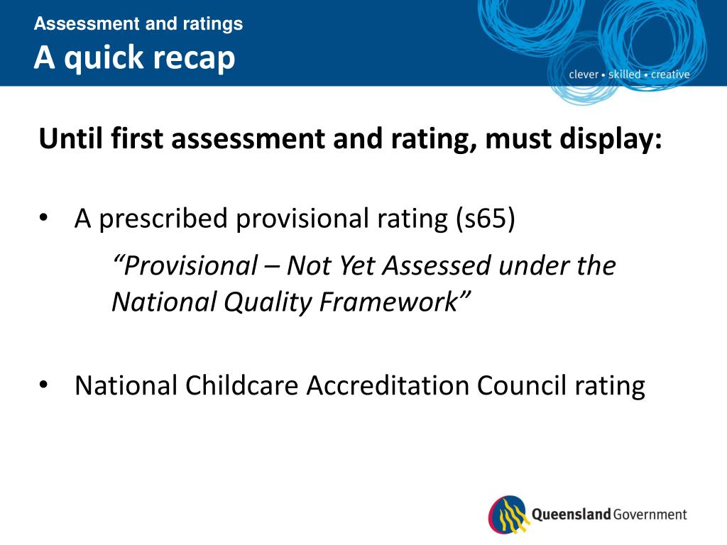 Assessment and ratings