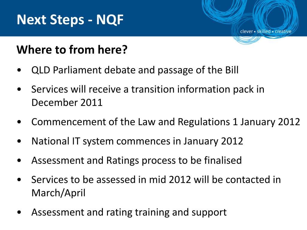Next Steps - NQF