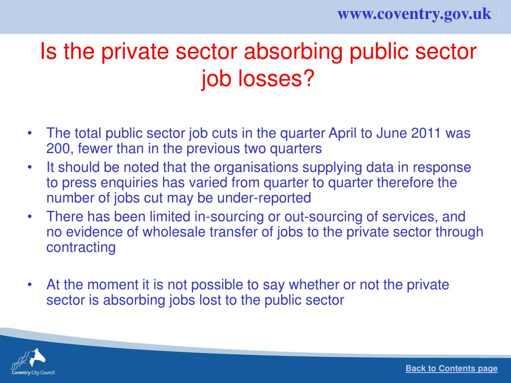 Is the private sector absorbing public sector job losses?