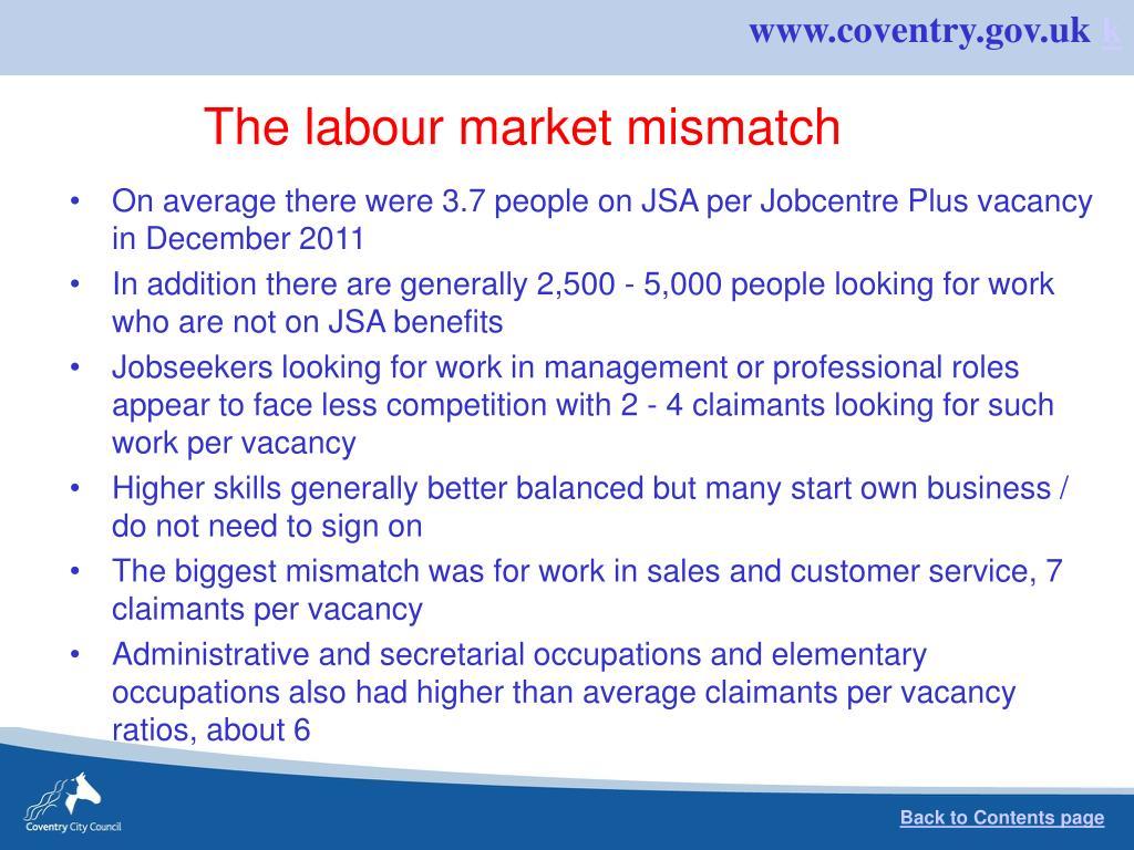 The labour market mismatch