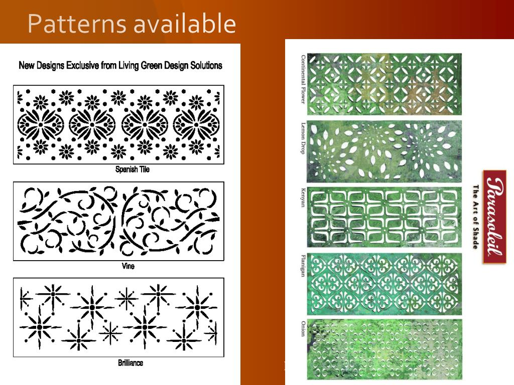 Patterns available