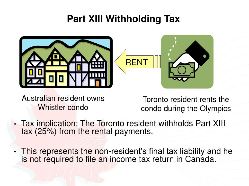 Part XIII Withholding Tax