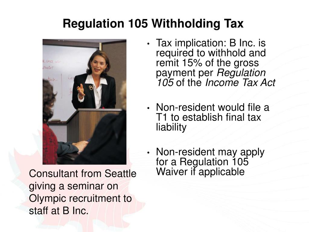 Regulation 105 Withholding Tax