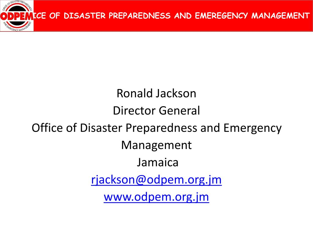 OFFICE OF DISASTER PREPAREDNESS AND EMEREGENCY MANAGEMENT