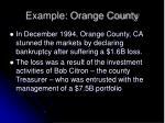 example orange county