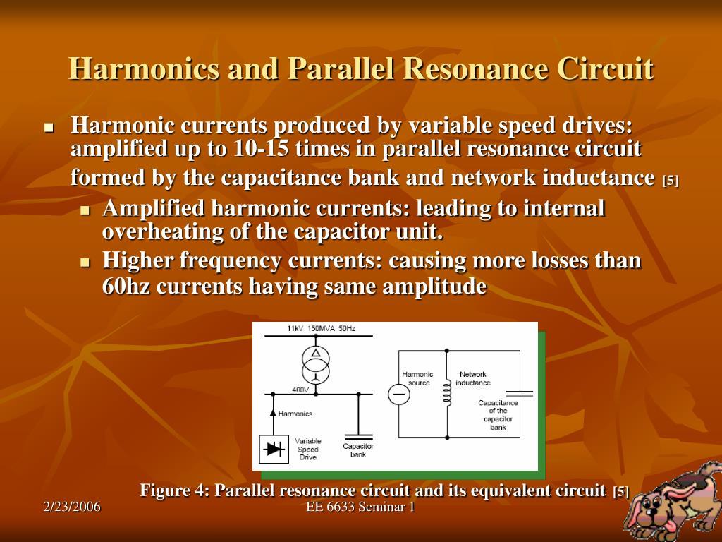 Harmonics and Parallel Resonance Circuit