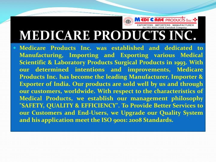 Medicare products inc